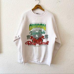 Vintage 95 Oregon Fighting Ducks Rose Bowl Sweater